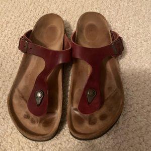 Red Birkenstock Sandals